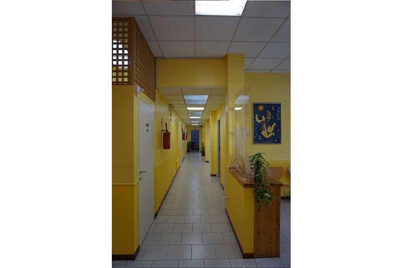 Poloiambulatorio Tre Esse, foto del corridoio